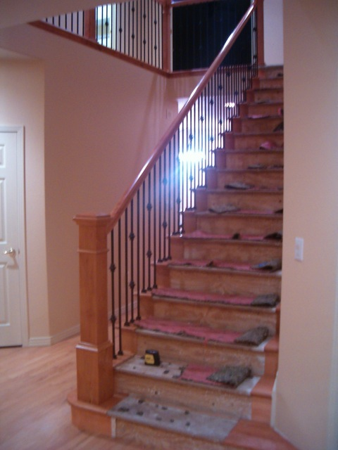 stair with iron balusters denver