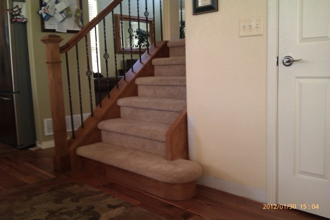 stair with iron Balusters