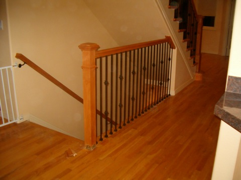 Nice Or A Standard Rail For Round Balusters. The Plowed Rails Come With A Fillet  Strip That Is Cut And Installed Between ...